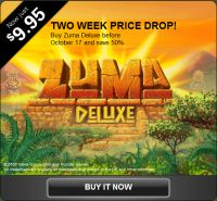 A recent advert for Zuma Deluxe.